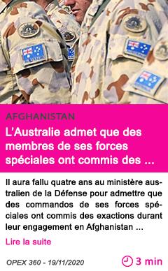 Societe l australie admet que des membres de ses forces spe ciales ont commis des exactions en afghanistan 1