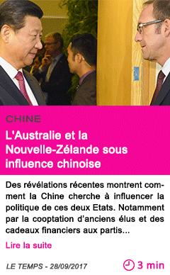 Societe l australie et la nouvelle zelande sous influence chinoise