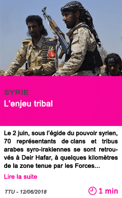 Societe l enjeu tribal