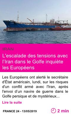 Societe l escalade des tensions avec l iran dans le golfe inquiete les europeens page001
