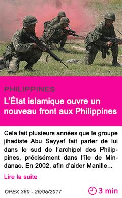 Societe l etat islamique ouvre un nouveau front aux philippines