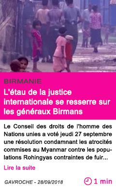 Societe l etau de la justice internationale se resserre sur les generaux birmans