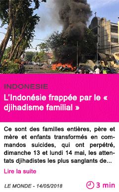 Societe l indonesie frappee par le djihadisme familial