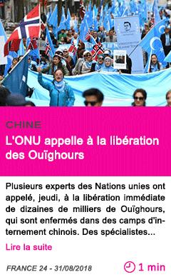 Societe l onu appelle a la liberation des ouighours