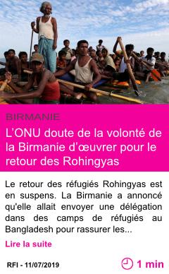 Societe l onu doute de la volonte de la birmanie d uvrer pour le retour des rohingyas page001