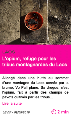 Societe l opium refuge pour les tribus montagnardes du laos