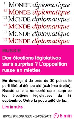 Societe l opposition russe en miettes