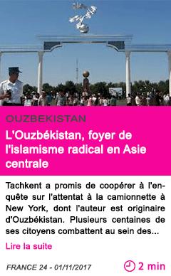 Societe l ouzbekistan foyer de l islamisme radical en asie centrale