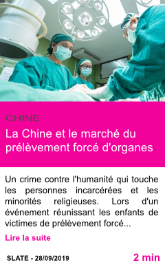 Societe la chine et le marche du prelevement force d organes page001