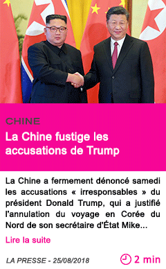 Societe la chine fustige les accusations de trump