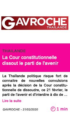 Societe la cour constitutionnelle dissout le parti de l avenir
