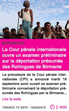 Societe la cour penale internationale ouvre un examen preliminaire sur la deportation presumee des rohingyas de birmanie 1