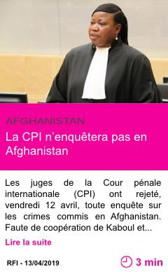 Societe la cpi n enquetera pas en afghanistan page001