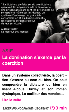 Societe la domination s exerce par la coercition