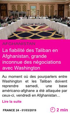 Societe la fiabilite des taliban en afghanistan grande inconnue des negociations avec washington page001