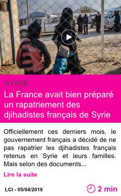Societe la france avait bien prepare un rapatriement des djihadistes francais de syrie page001