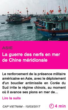Societe la guerre des nerfs en mer de chine meridionale