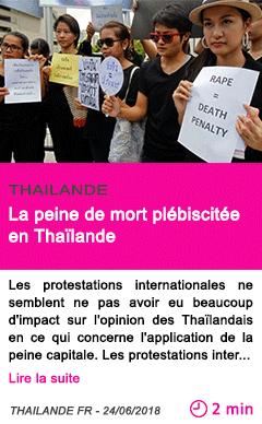 Societe la peine de mort plebiscitee en thailande