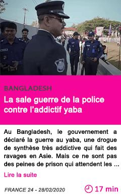 Societe la sale guerre de la police contre l addictif yaba