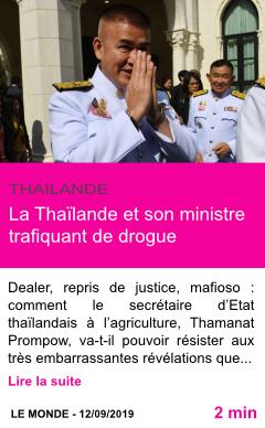Societe la thailande et son ministre trafiquant de drogue page001