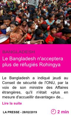 Societe le bangladesh n acceptera plus de refugies rohingya page001