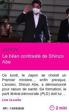 Societe le bilan contraste de shinzo abe page001