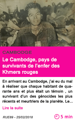 Societe le cambodge pays de survivants de l enfer des khmers rouges