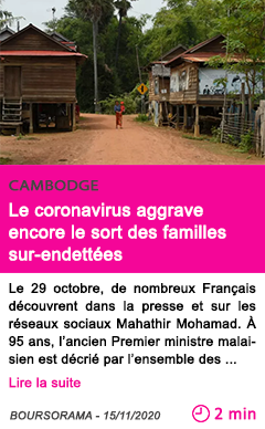 Societe le coronavirus aggrave encore le sort des familles sur endette es