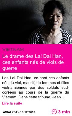 Societe le drame des lai dai han ces enfants nes de viols de guerre page001