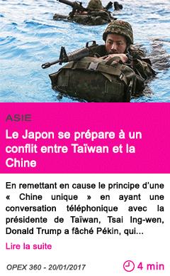 Societe le japon se prepare a un conflit entre taiwan et la chine