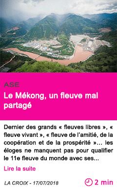Societe le mekong un fleuve mal partage