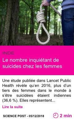 Societe le nombre inquietant de suicides chez les femmes page001