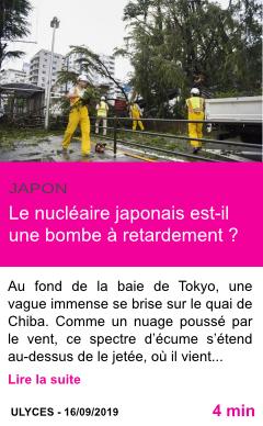 Societe le nucleaire japonais est il une bombe a retardement page001