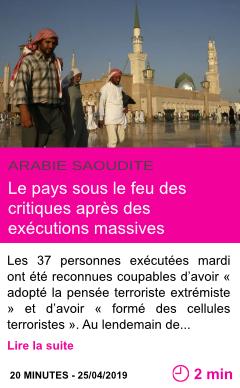 Societe le pays sous le feu des critiques apres des executions massives page001