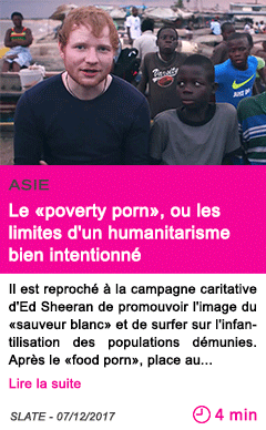 Societe le poverty porn ou les limites d un humanitarisme bien intentionne