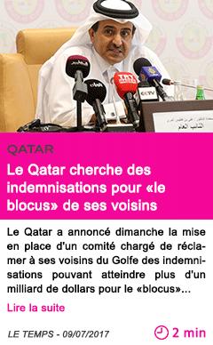 Societe le qatar cherche des indemnisations pour le blocus de ses voisins 1
