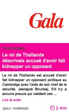 Societe le roi de thailande desormais accuse d avoir fait kidnapper un opposant
