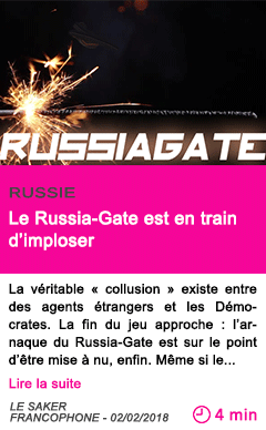 Societe le russia gate est en train d imploser
