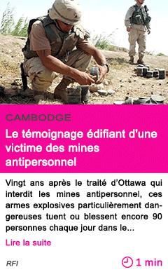 Societe le temoignage edifiant d une victime des mines antipersonnel