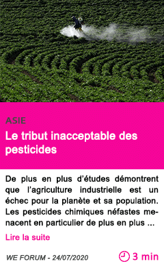 Societe le tribut inacceptable des pesticides