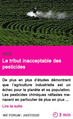 Societe le tribut inacceptable des pesticides