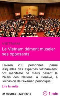 Societe le vietnam dement museler ses opposants page001