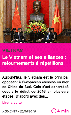 Societe le vietnam et ses alliances retournements a repetitions