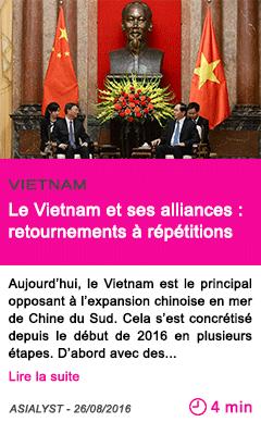 Societe le vietnam et ses alliances retournements a repetitions