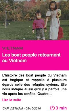 Societe les boat people retournent au vietnam
