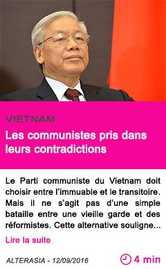 Societe les communistes pris dans leurs contradictions