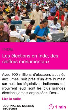 Societe les elections en inde des chiffres monumentaux page001