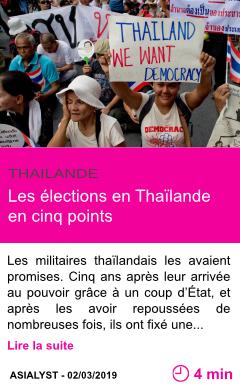 Societe les elections en thailande en cinq points page001