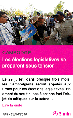 Societe les elections legislatives se preparent sous tension