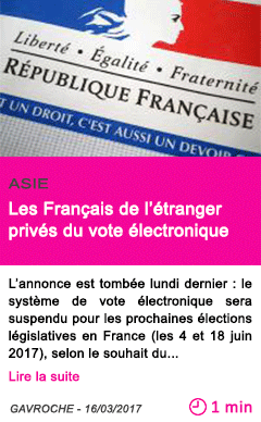 Societe les francais de l etranger prives du vote electronique 1